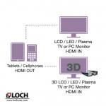LOCH HDMI to Micro HDMI Cable