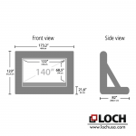 LOCH IS140 Inflatable Screen | Sizes